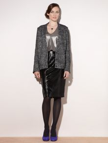 The Silver Lurex Boucle Jacket