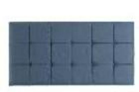 LINEA Home by Hypnos Grace double grey faux suede headboard