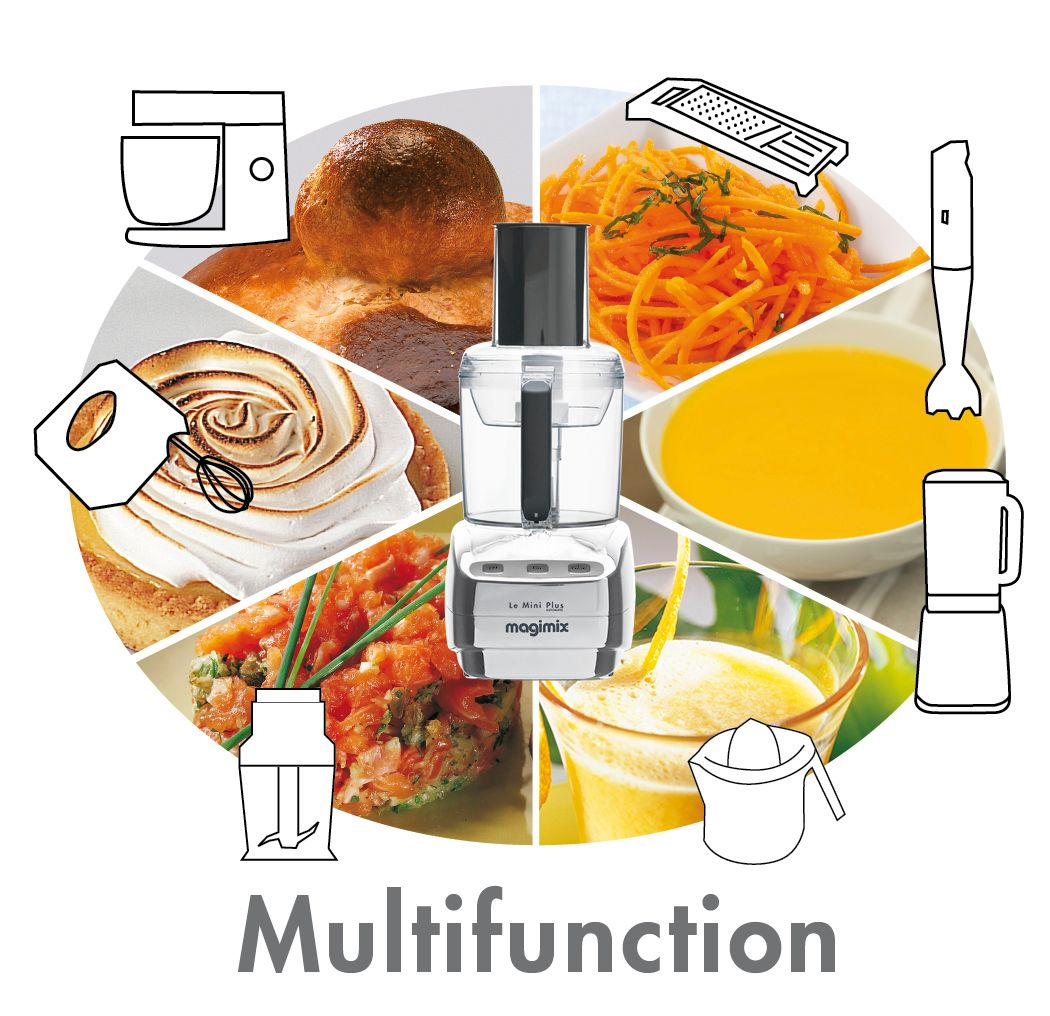 Le Mini Plus Food Processor Blue