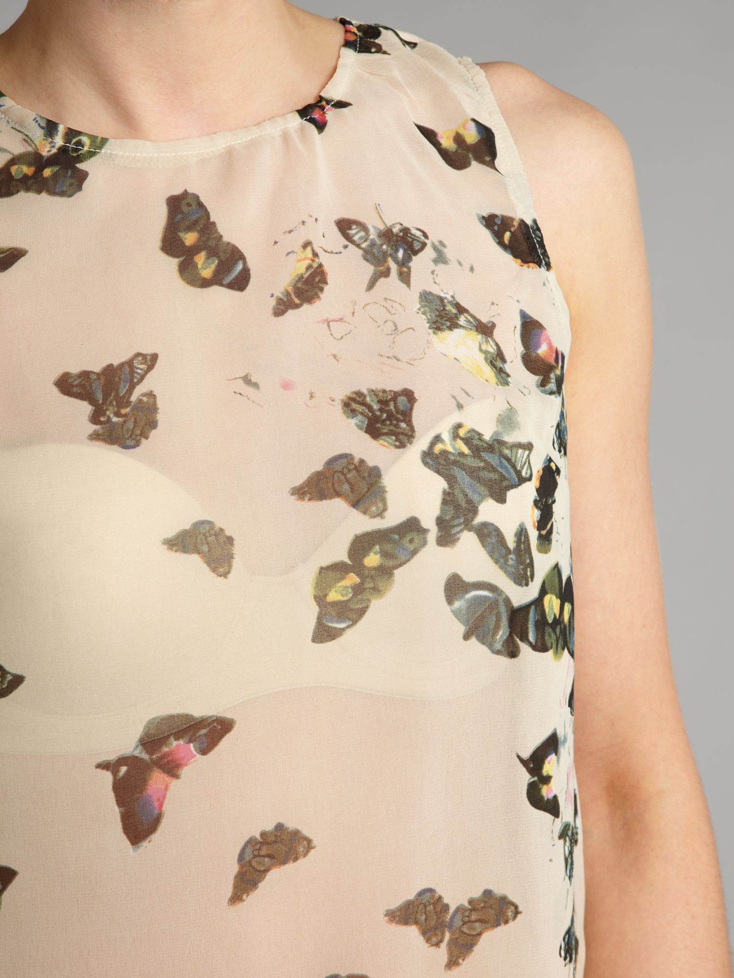 Ax paris butterfly print top