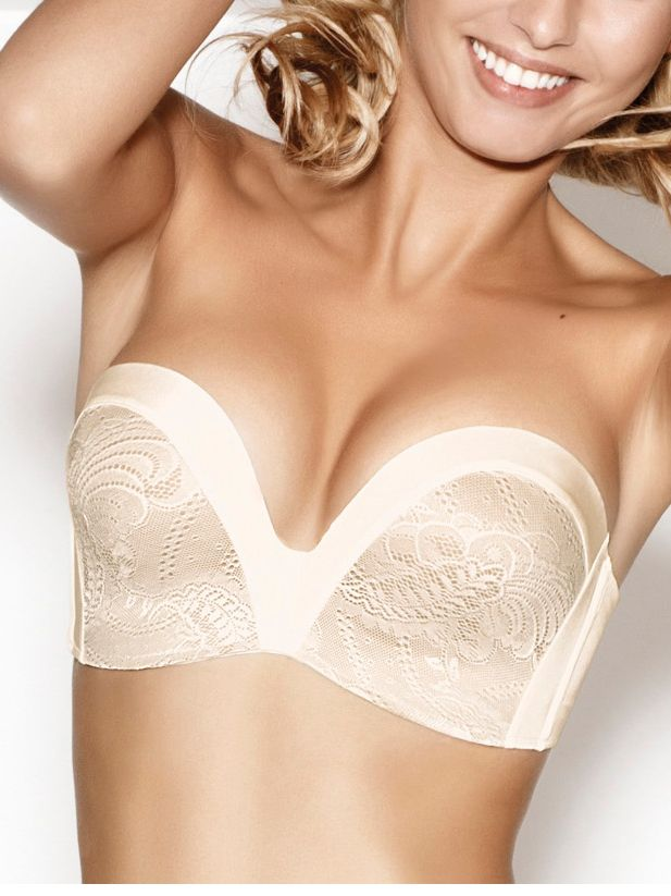 Ultimate strapless lace bra
