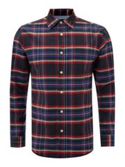 Howick Holiday Oxford Check long sleeved shirt