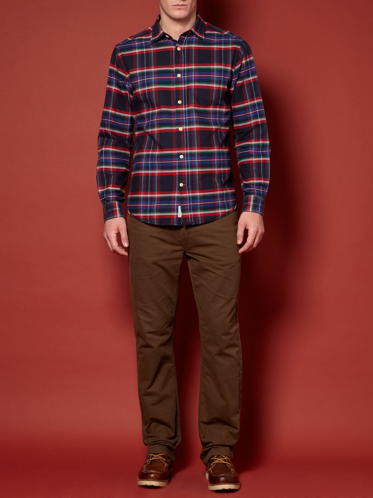 Holiday Oxford Check long sleeved shirt