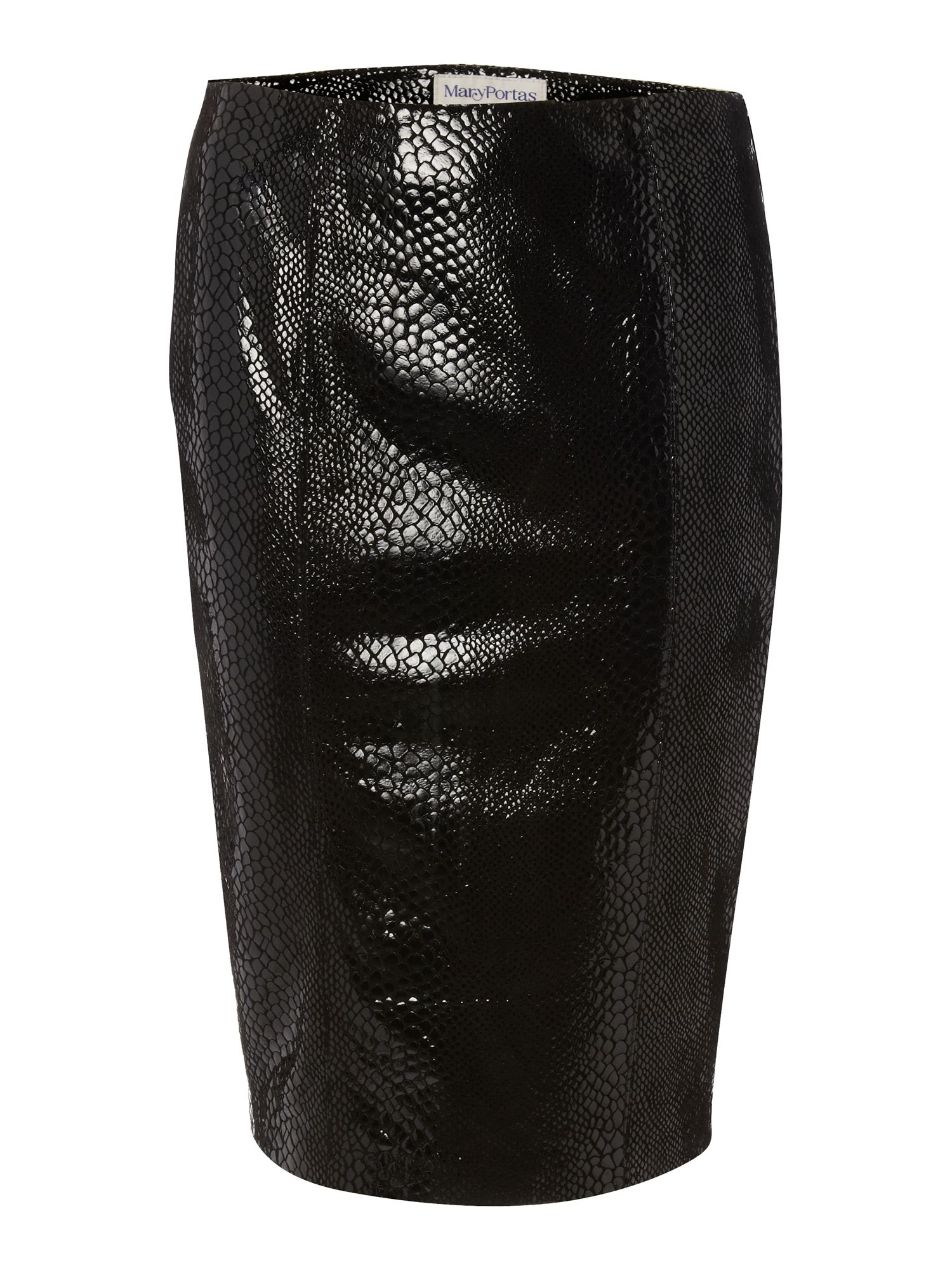 Leather snake skirt