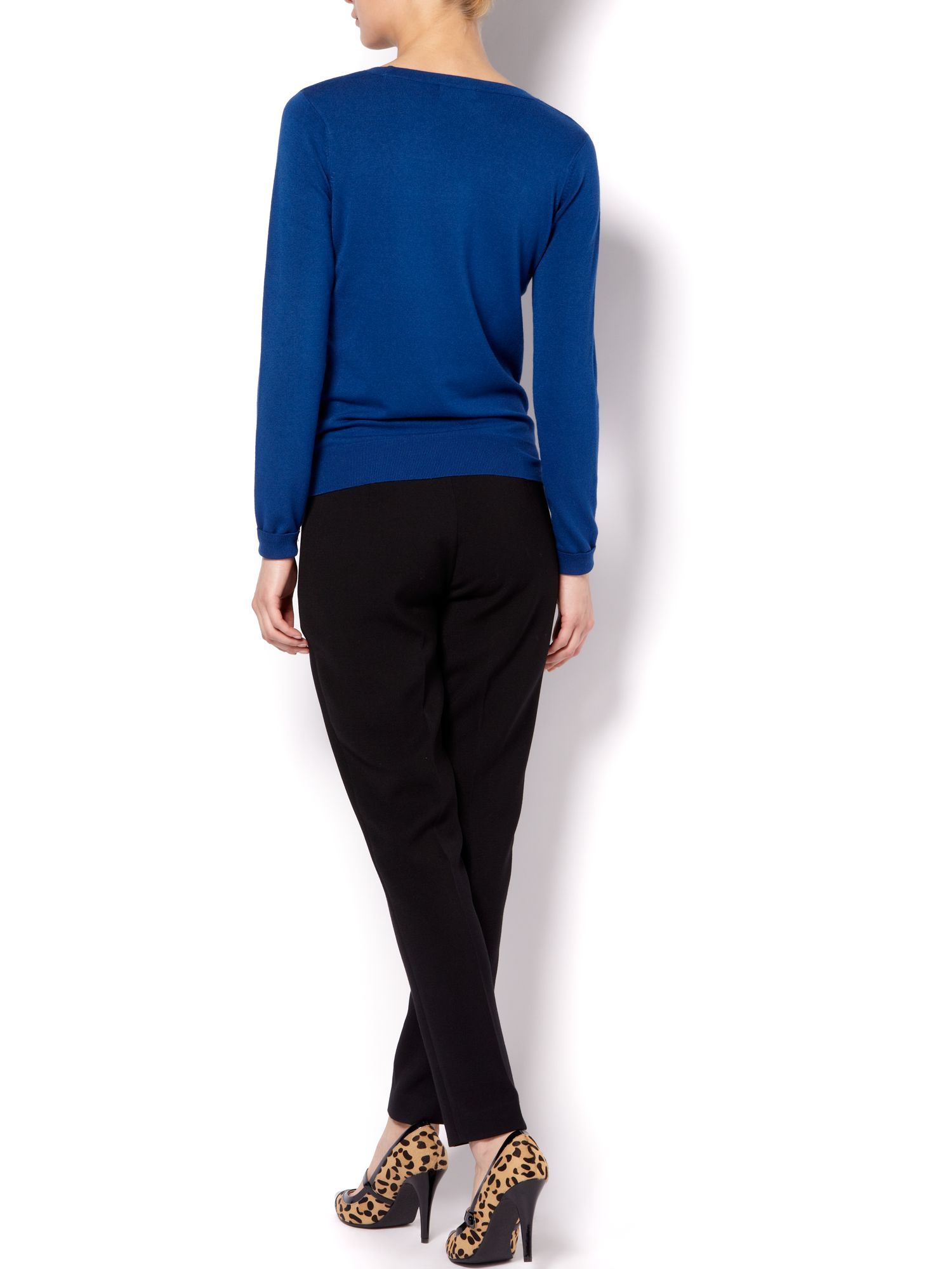 Long sleeve scoop neck jumper