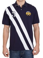 Raging Bull Diagonal 2 stripe polo navy