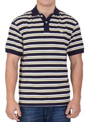Raging Bull Navy/yellow double stripe polo