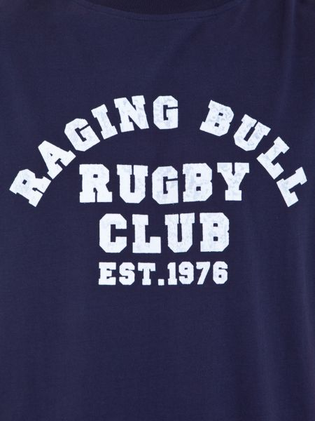 Raging Bull Rugby club t-shirt navy