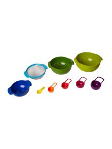 Multicoloured nest plus 9 piece set