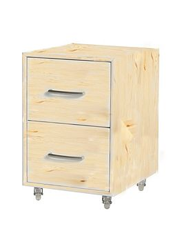 Chest of drawers on casters