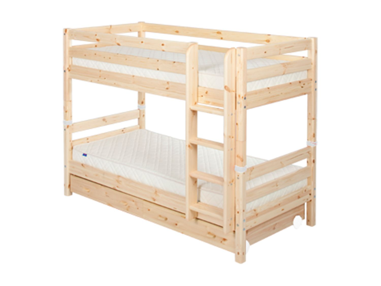 Single bunks with drawers and ladder