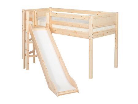 Flexa Single mid-height bed with tower & slide