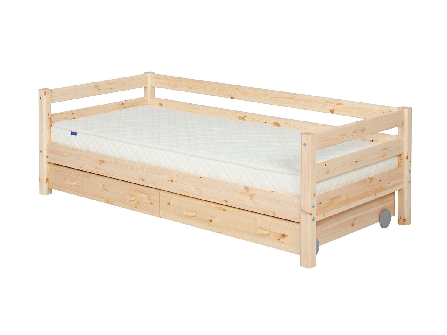 Flexa Flexa Single bed with safety rail and drawers