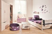 Flexa Single bed with safety rail and drawers