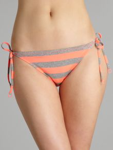 Stripey bikini brief