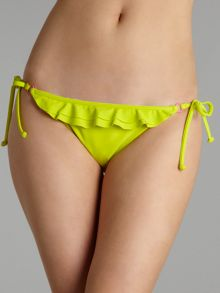 Neon ruffle tie side bikini brief