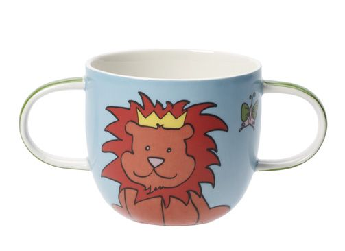Funny zoo children`s mug with two handles