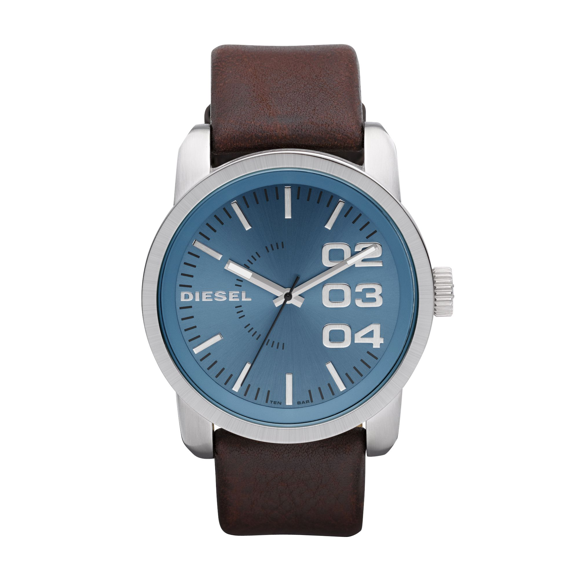 DZ1512 Double down Bbrown leather men`s watch