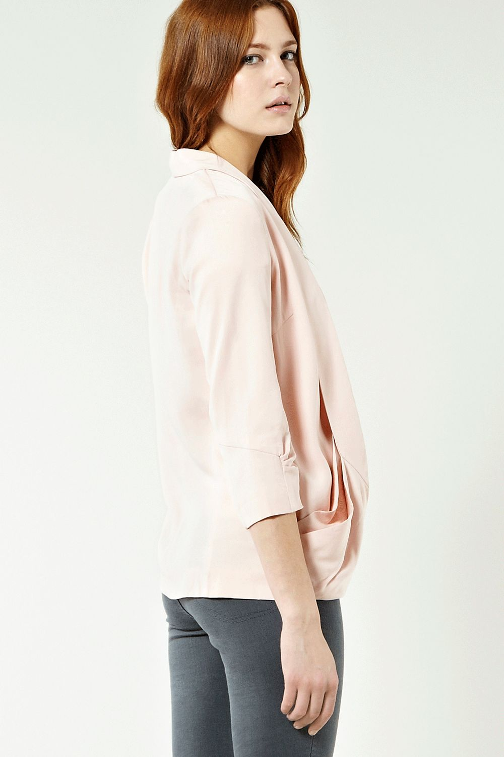 Double drape pocket jacket