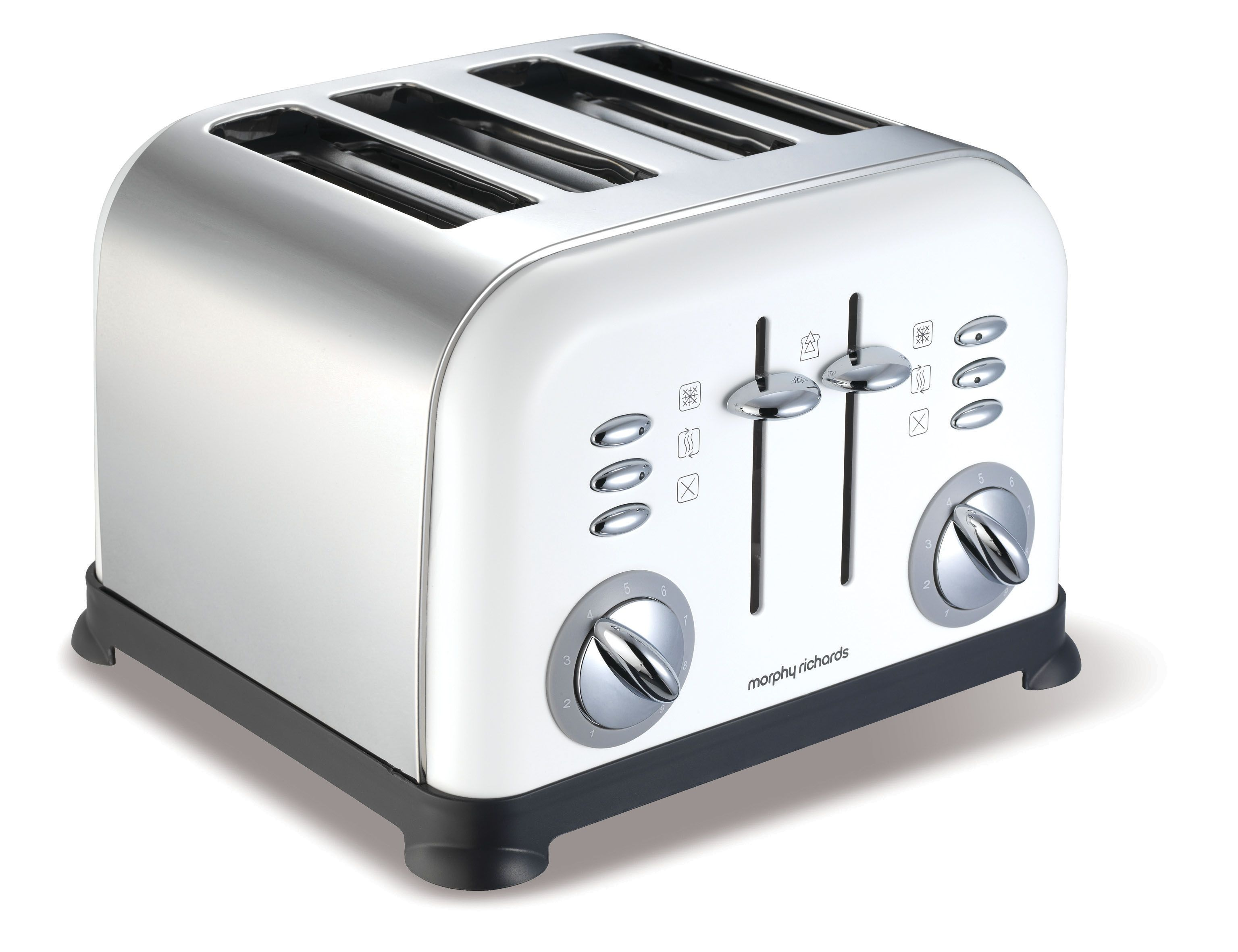 Accents 4-Slice White Toaster 44037