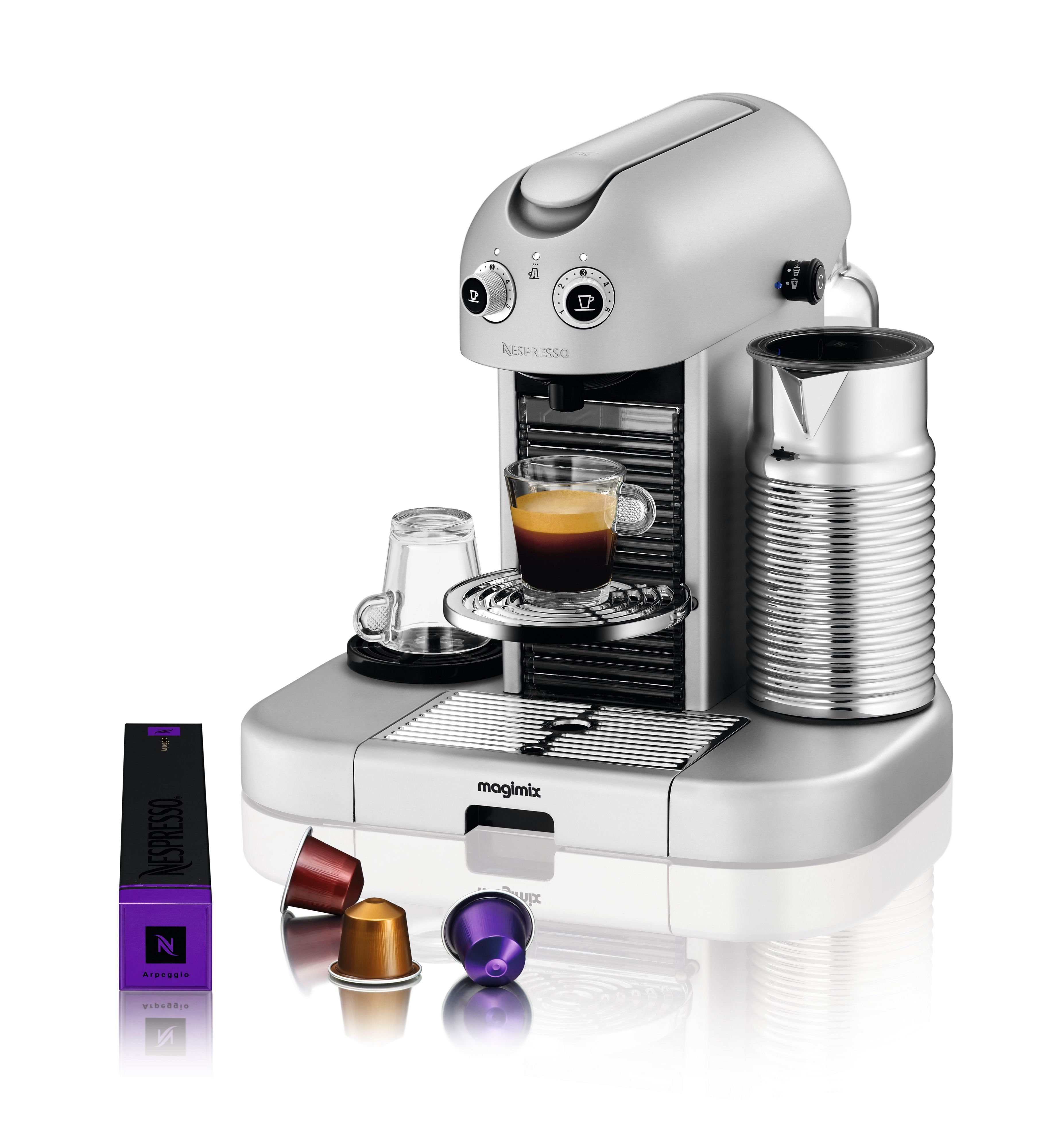 GranMaestria Titanium Nespresso Coffee Machine