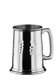 Arthur Price Half hammered 1 pint pewter tankard