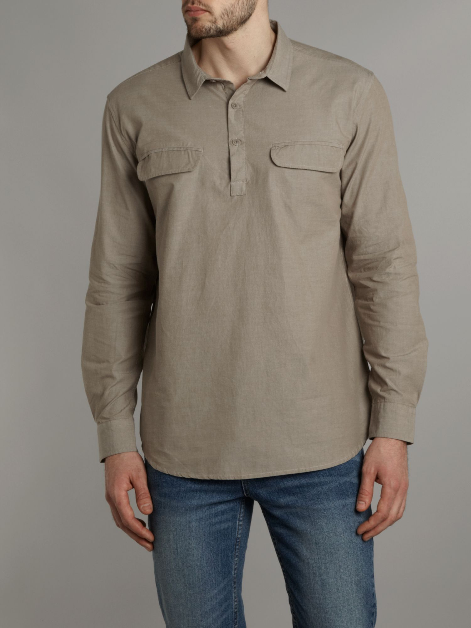 Two pocket long sleeved shirt