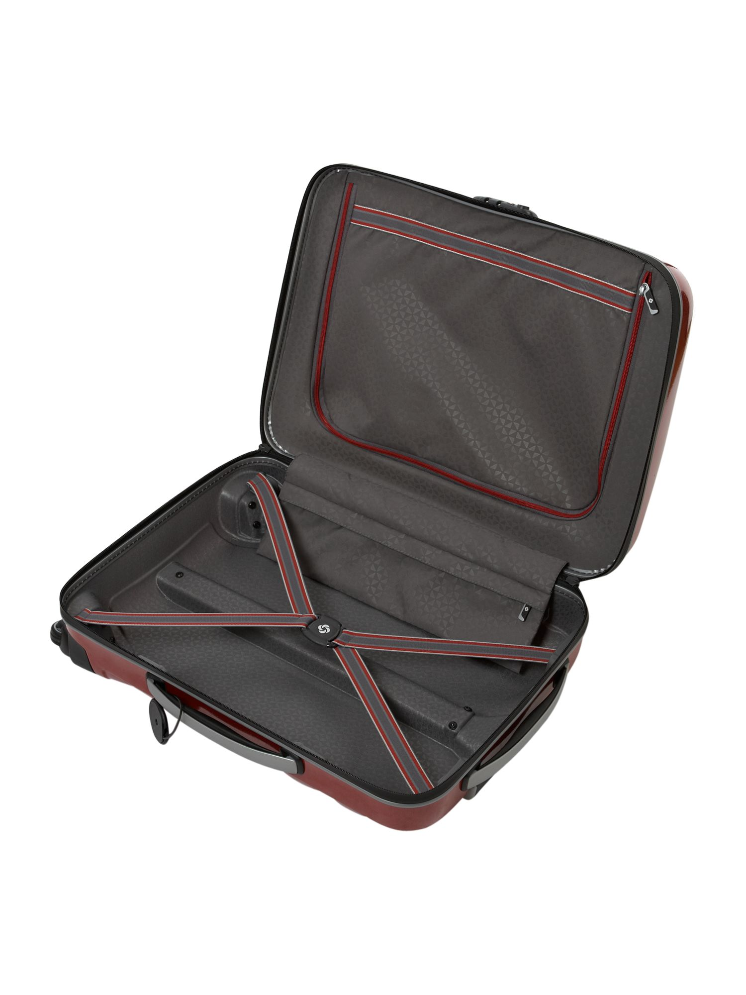 Firelite Red 55cm 4 Wheel Case