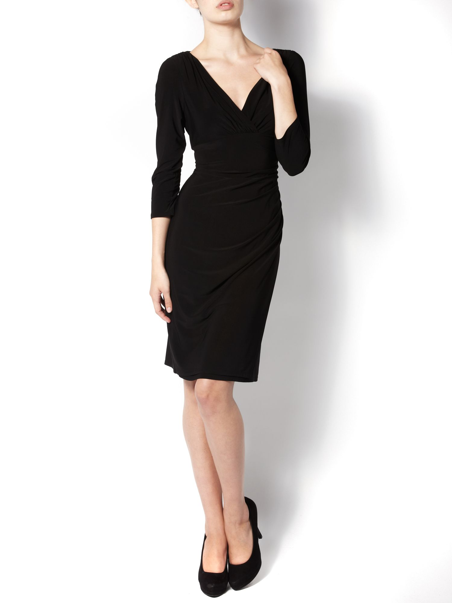 Ruched side jersey dress
