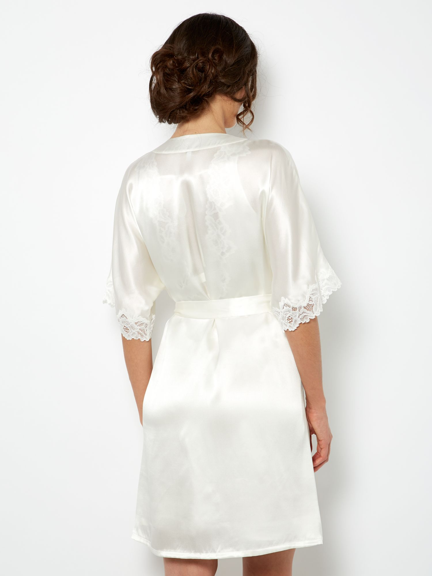 Bridal knee length robe