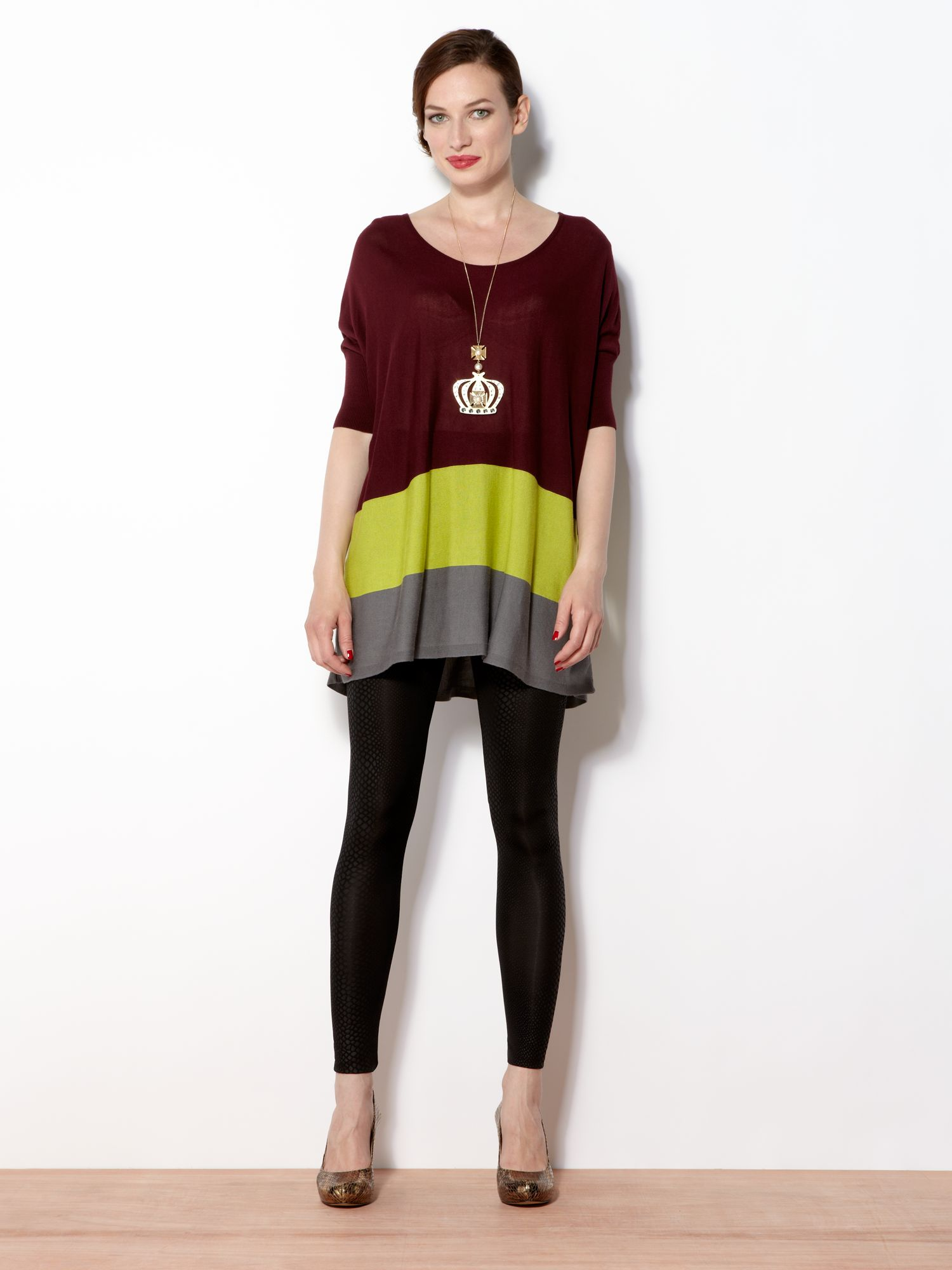 The colour block jumper