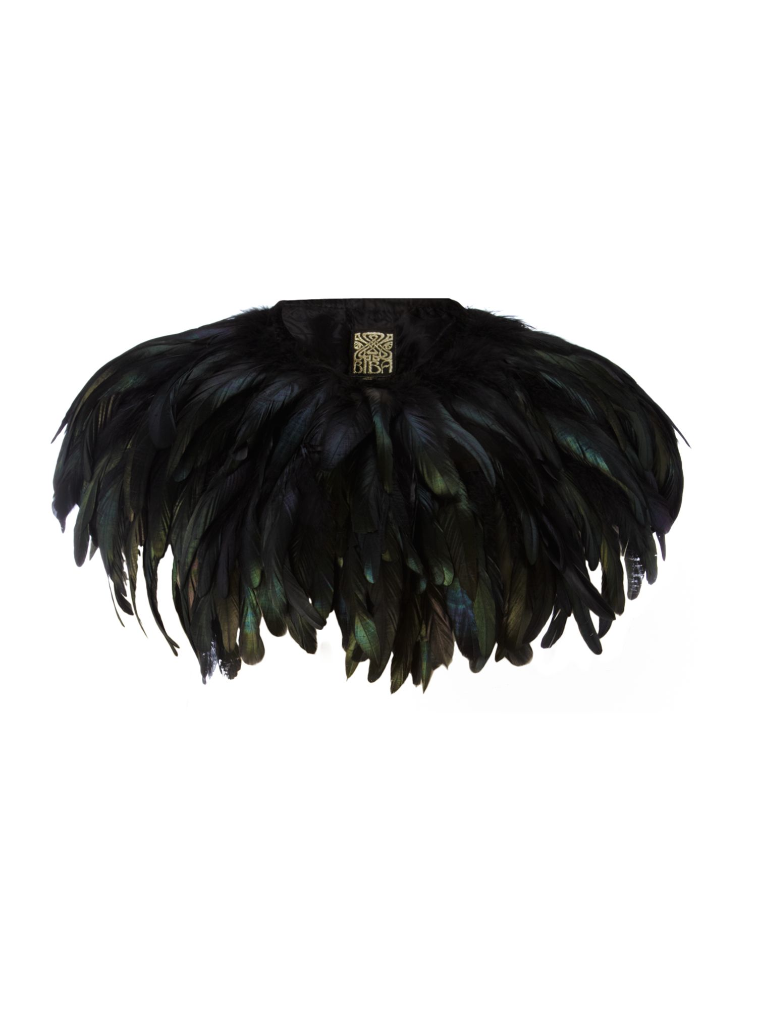 Biba Feather cape, Black