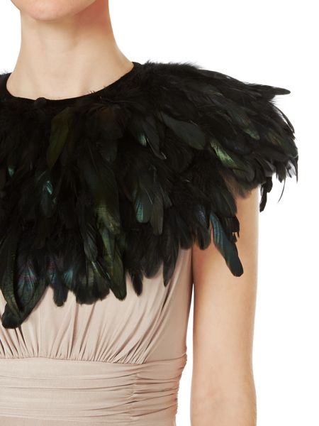 Biba Feather cape
