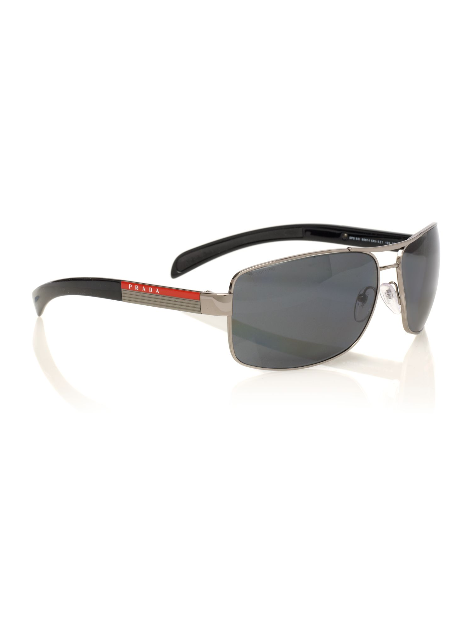 Mens PS54IS Gunmetal Aviator Sunglasses