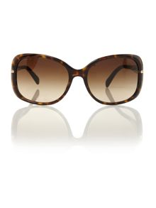 Prada ladies PR080S havana square sunglasses
