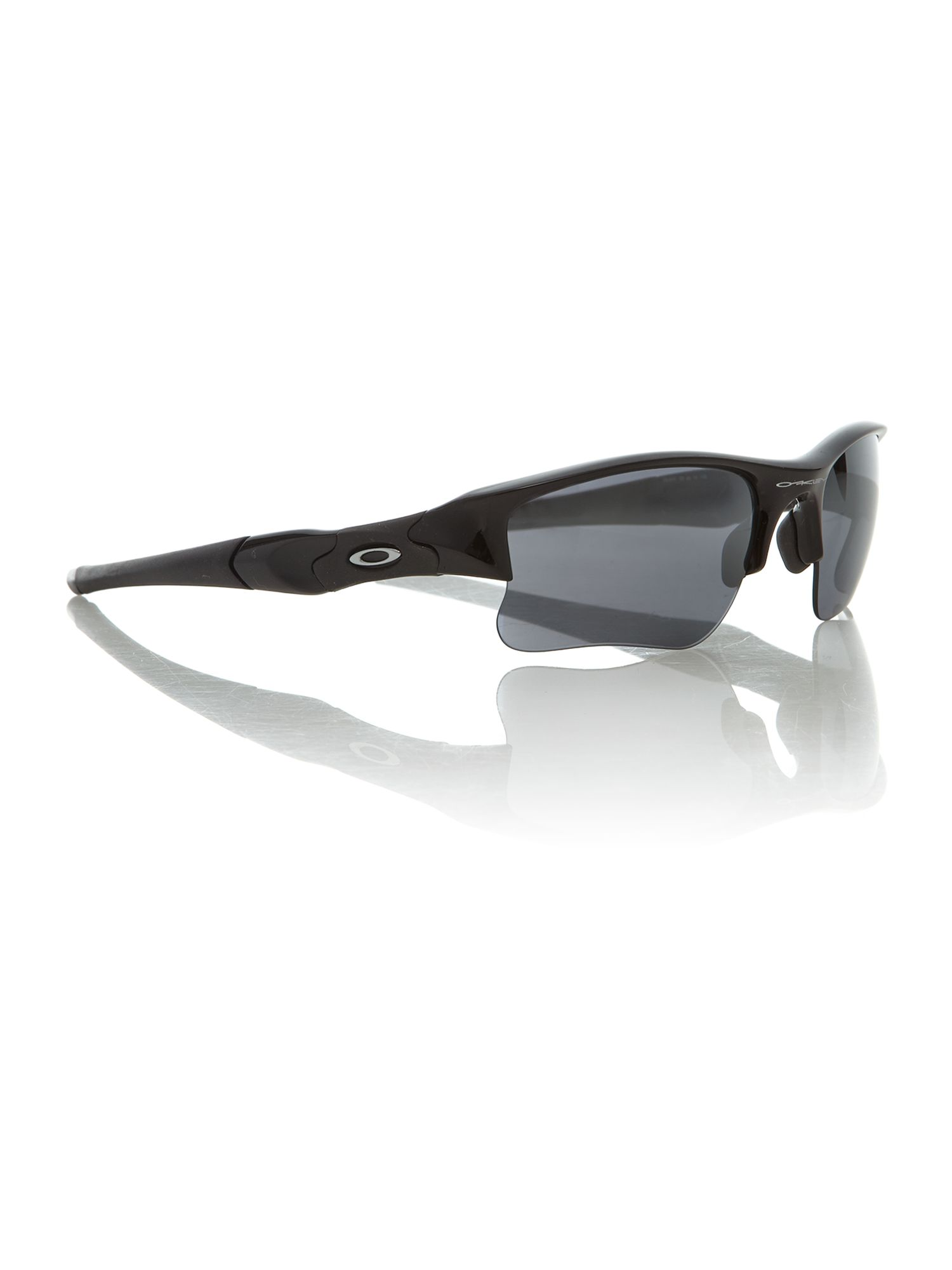 Oakely men`s OO9009 black flat jacket sunglasses