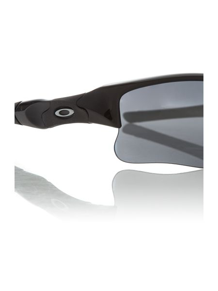 Oakley Oakely men`s OO9009 black flat jacket sunglasses