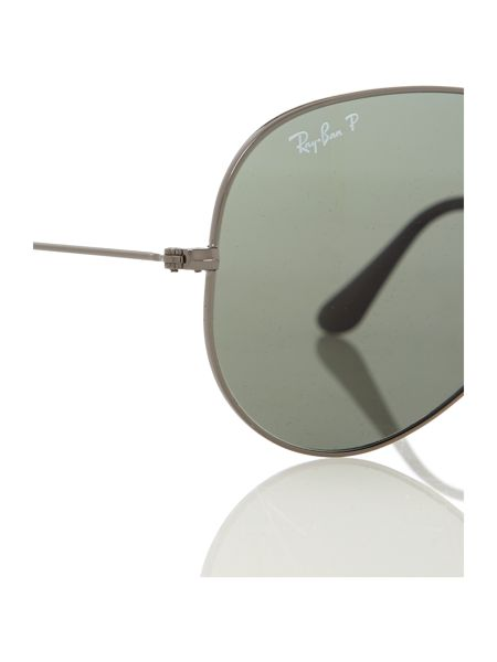 Ray-Ban Unisex gunmetal polarised aviator sunglasses