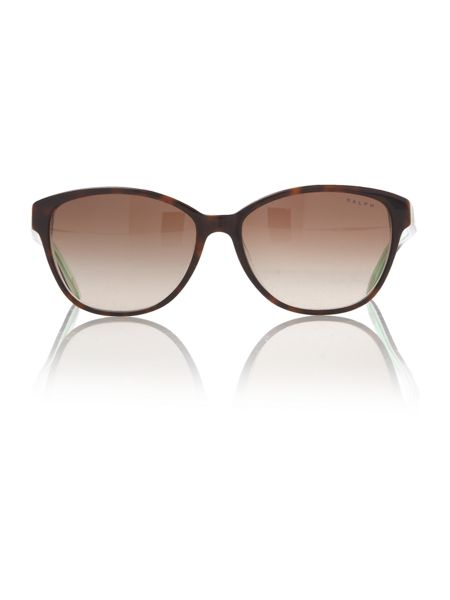 Ralph Ladies RA5128 Brown Wayfarer Sunglasses