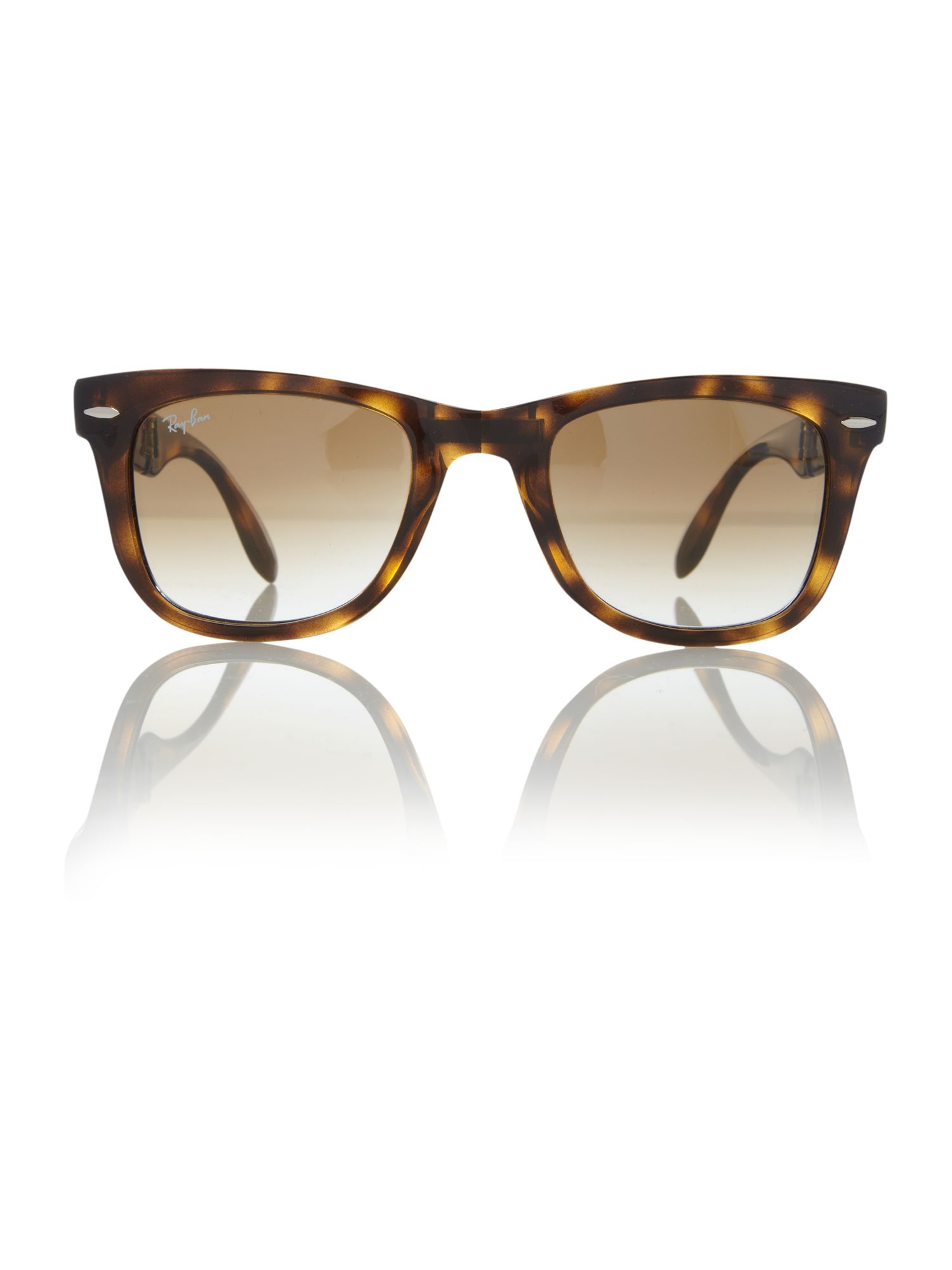 Unisex RB4105 Folding Wayfarer Brown Sunglasses