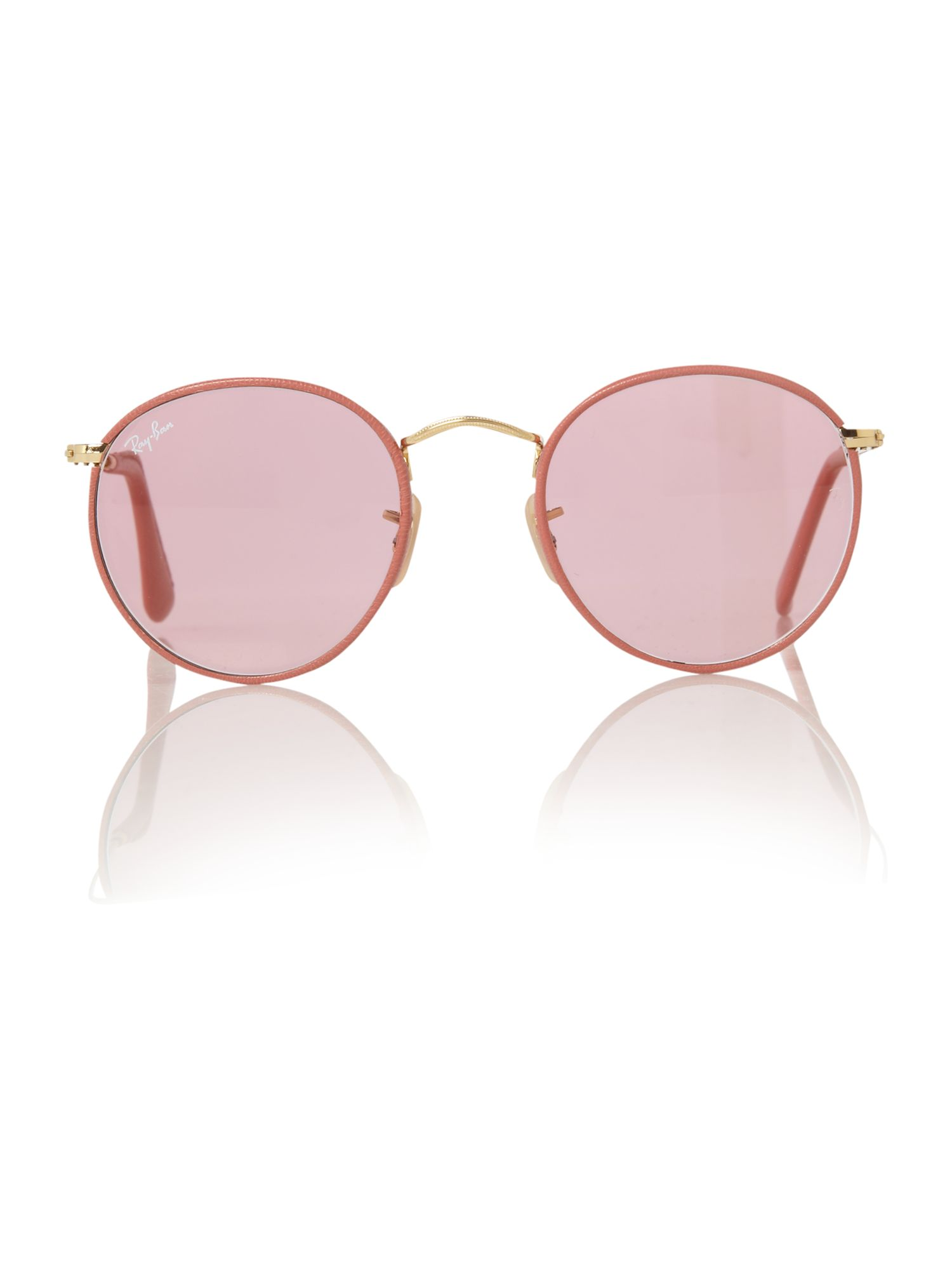 Unisex RB3475Q Gold Round Sunglasses