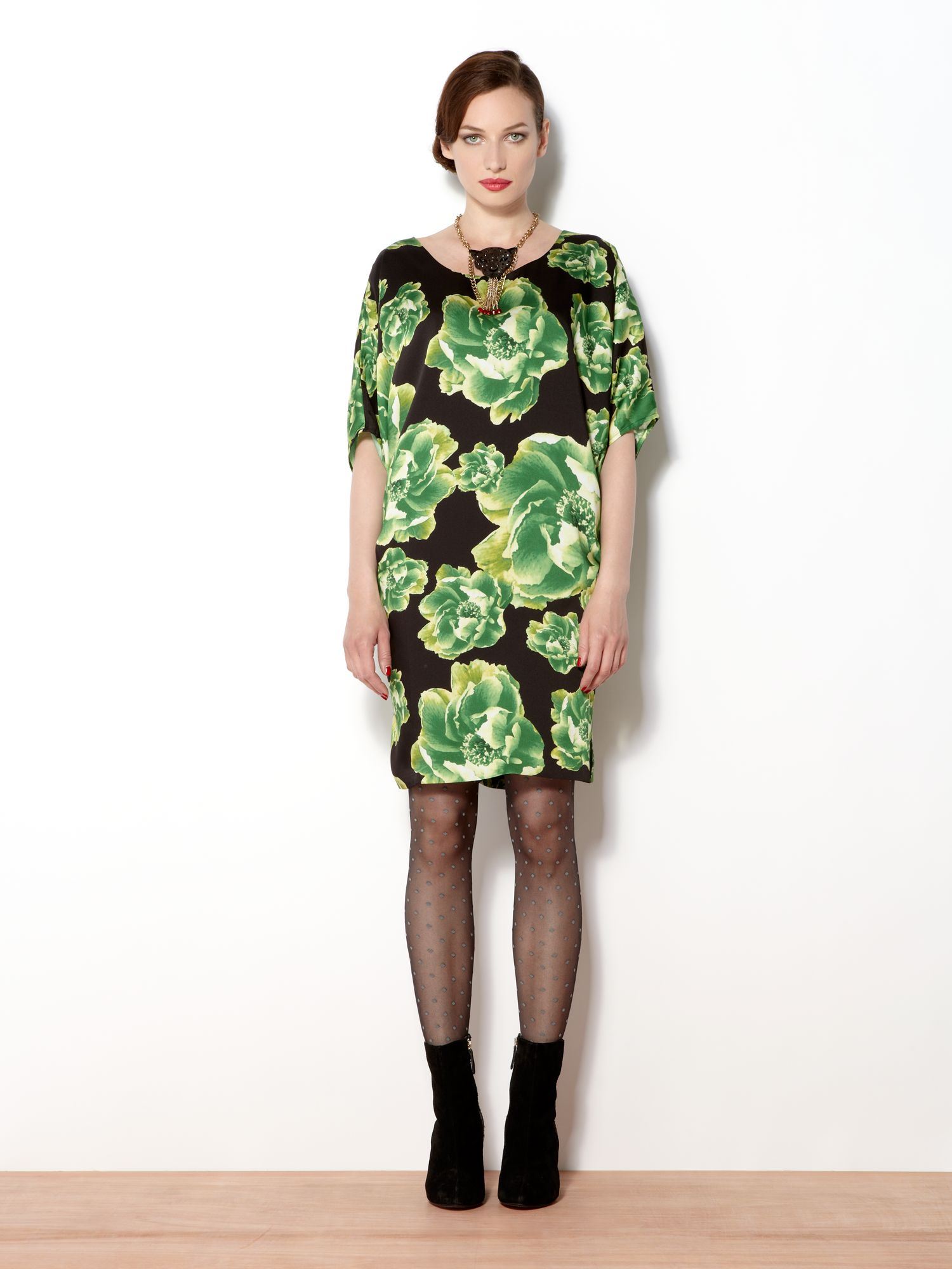 The cabbage rose shift dress