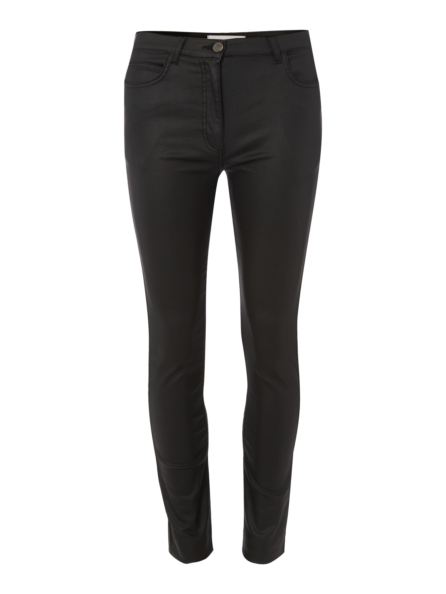 The High-Waist Leather Coated Skinny Jean