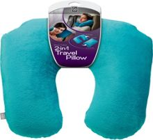 Go Travel 2 in 1 travel pillow, assorted colours