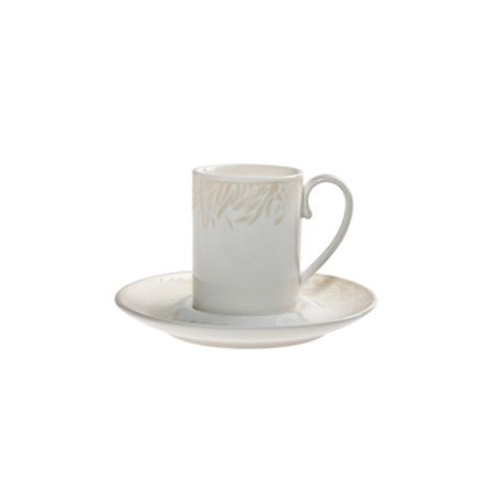 Monsoon by Denby Lucille espresso cup and saucer x2 set