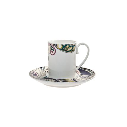 Cosmic espresso cup and saucer x2 set