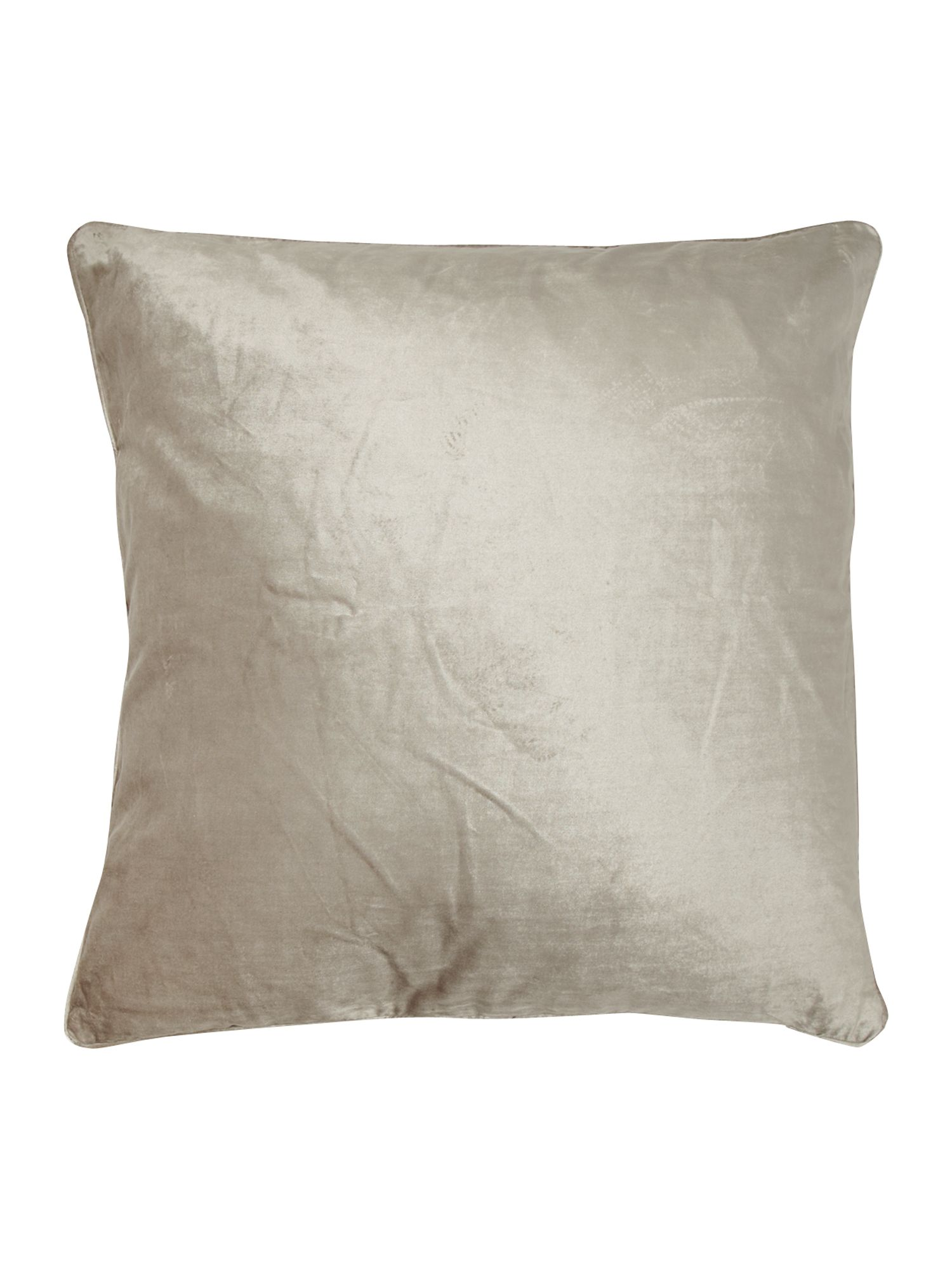 Oversized grey velvet cushion