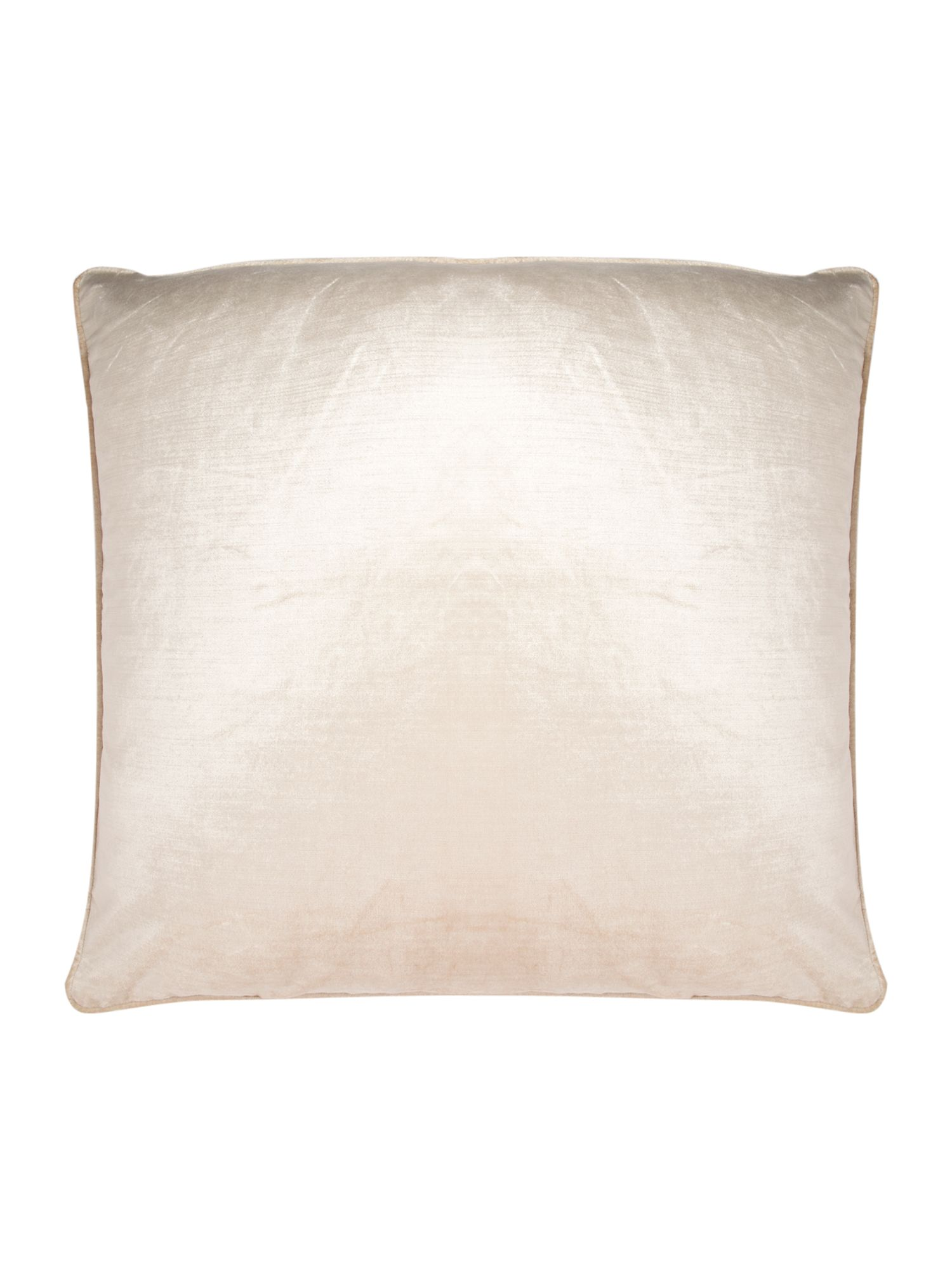 Oversized cream velvet cushion