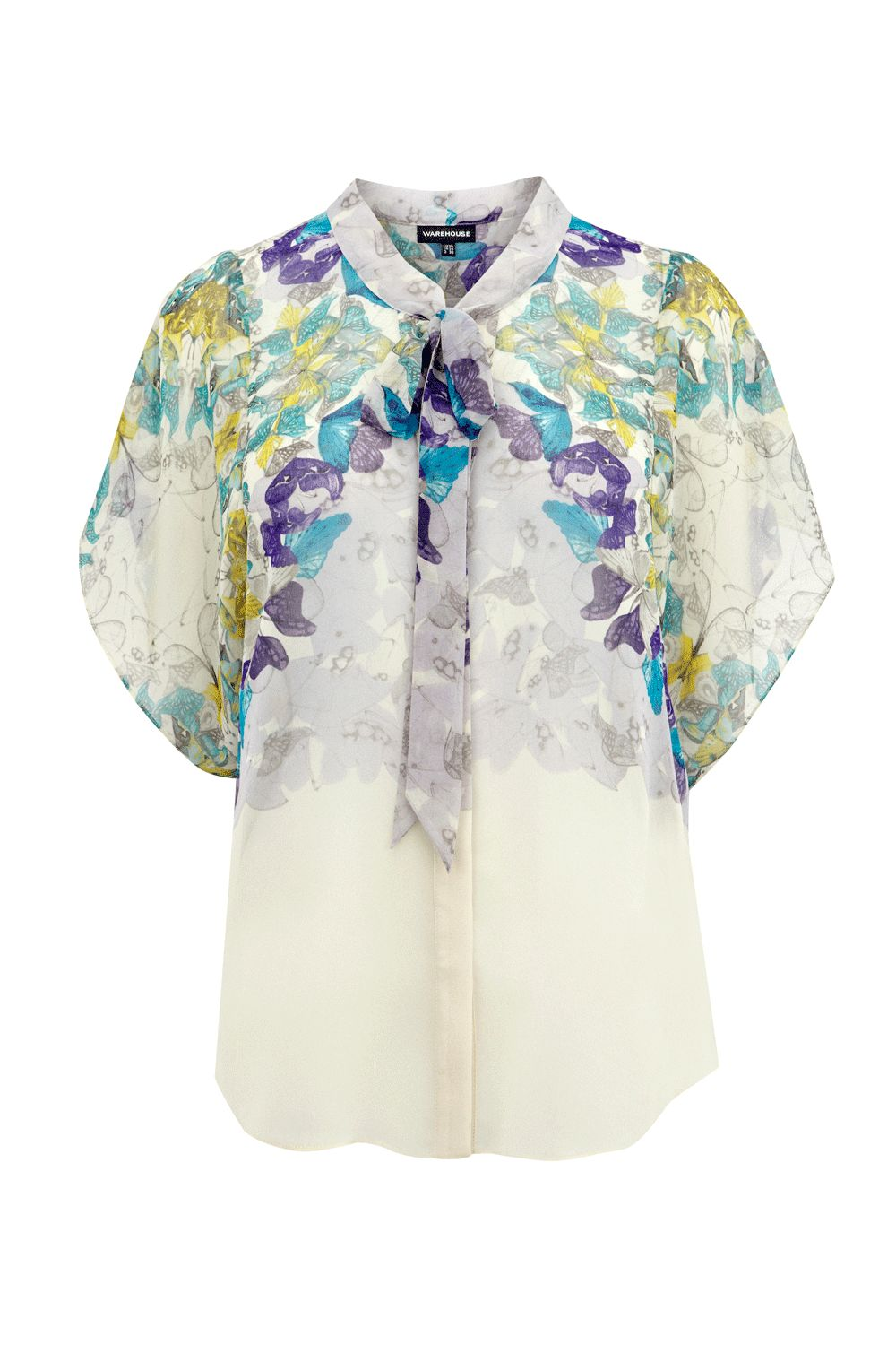 Warehouse Womens Warehouse Circle butterfly blouse, product image