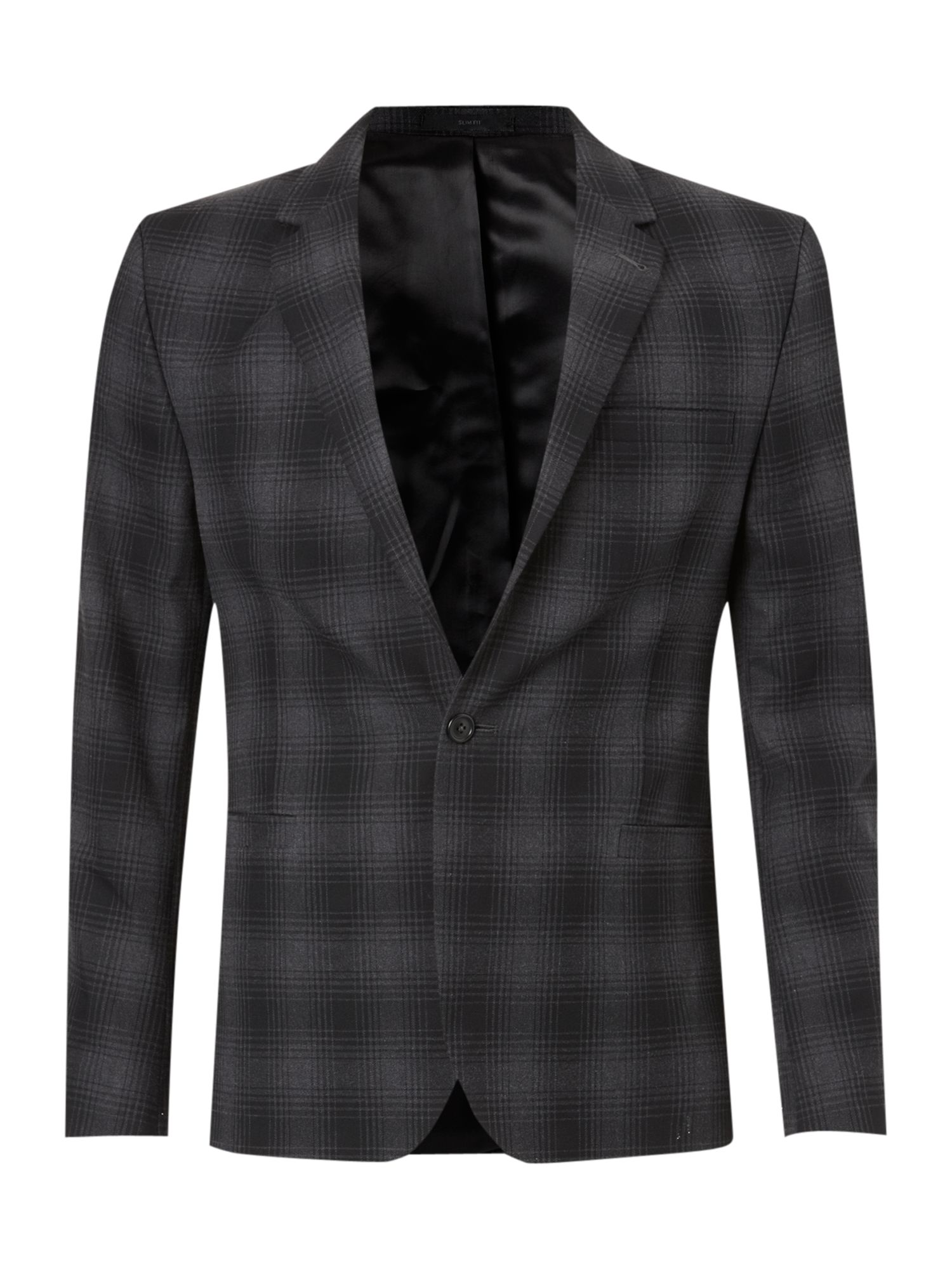 Platt slim fit check blazer
